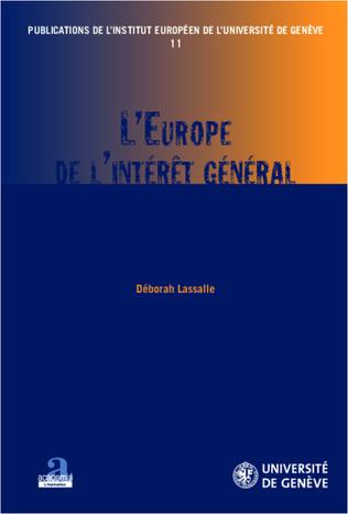 Couverture L'Europe de l'intérêt général