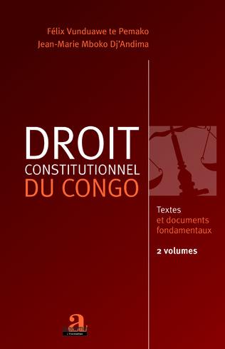 Couverture Droit constitutionnel du Congo (Volume 1 et 2)