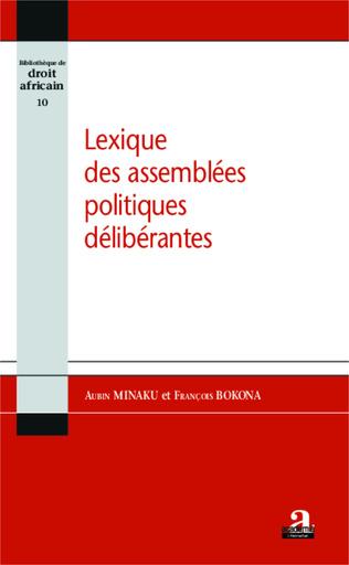 Couverture Lexique des assemblées politiques délibérantes
