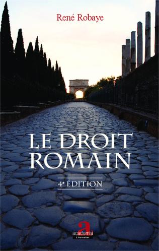 Couverture Le droit romain