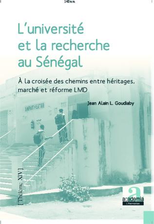 Couverture L'université et la recherche au Sénégal à la croisée des chemins