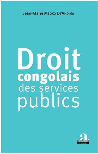 Couverture Droit congolais des services publics