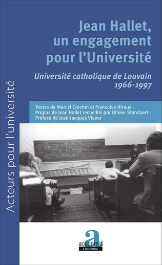 Couverture Jean Hallet, un engagement pour l'Université