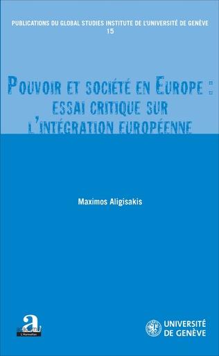 Couverture POUVOIR ET SOCIETE EN EUROPE ESSAI CRITIQUE