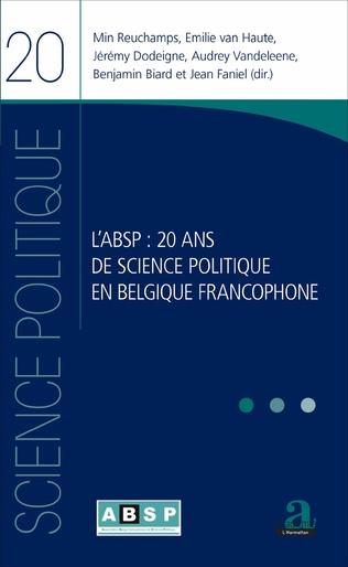 Couverture L'ABSP 20 ANS DE SCIENCE POLITIQUE EN BELGIQUE