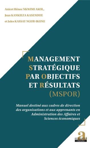 Couverture Management Stratégique par Objectifs et Résultats (MSPOR)