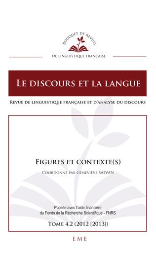 Couverture Figures et contexte(s)