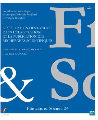 Couverture L'implication des langues dans l'élaboration et la publication des recherches scientifiques