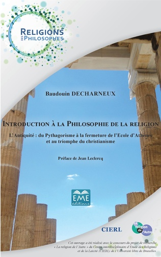 Couverture Introduction à la philosophie de la religion