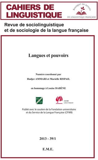 Couverture Langues et pouvoirs