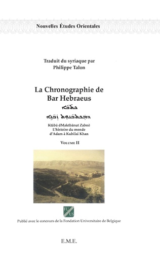 Couverture La chronographie de Bar Hebraeus (Volume II)