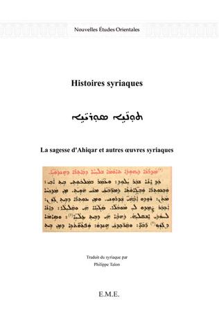 Couverture Histoires syriaques