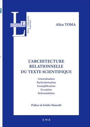 Couverture L'architecture relationnelle du texte scientifique