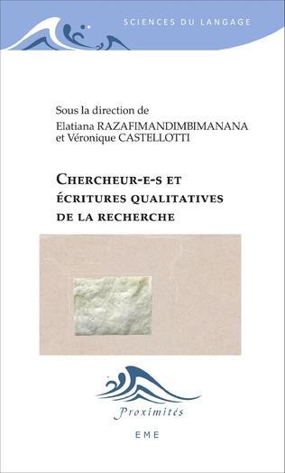Couverture Chercheur(e)s et écritures qualitatives de la recherche