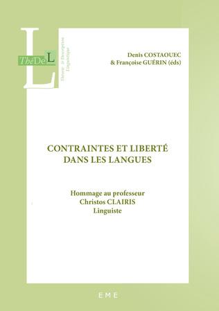 Couverture Contraintes et liberté dans les langues