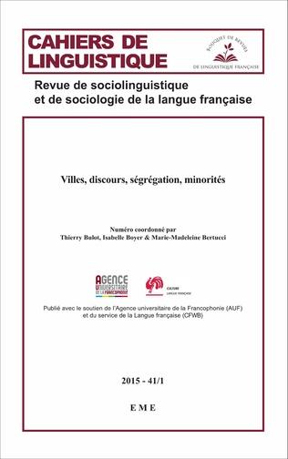 Couverture Villes, discours, ségrégation, minorités
