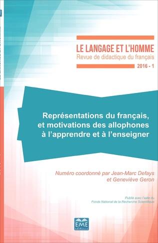 Couverture Représentations du français et motivations des allophones à l'apprendre et à l'enseigner