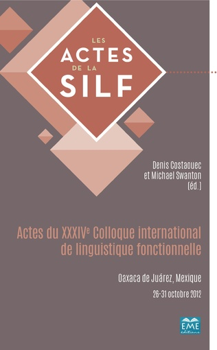 Couverture Actes du XXXIVe Colloque international de linguistique fonctionnelle