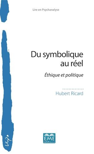Couverture Du symbolique au réel