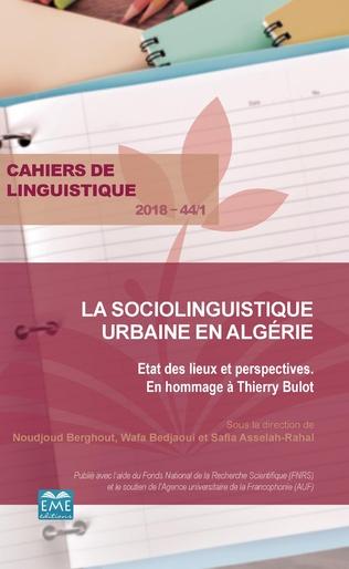 Couverture Mise en mots de l'identité algéroise. Réflexion sur les représentations de la memêté et de l'altérité chez les Algérois