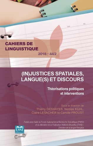 Couverture Justice sociale et sociolinguistique urbaine : Problématiser la justice spatio-linguistique