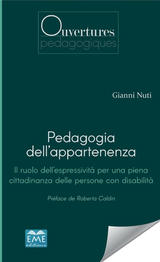 Couverture Pedagogia dell'appartenenza
