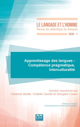 Couverture Apprentissage des langues : Compétence pragmatique, Interculturalité