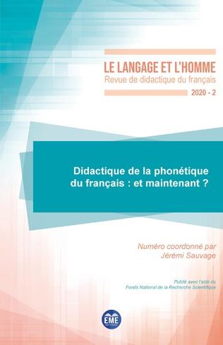 Couverture Didactique de la phonétique du français : et maintenant ?
