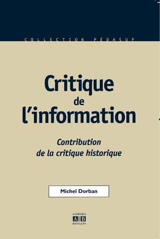 Couverture Critique de l'information