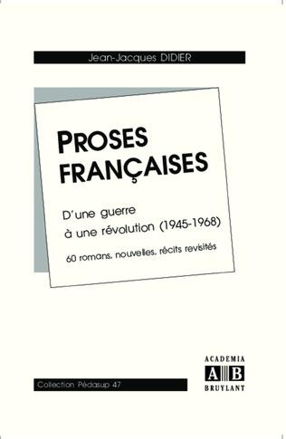 Couverture Proses françaises