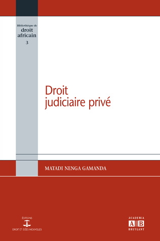 Couverture  Droit judiciaire privé