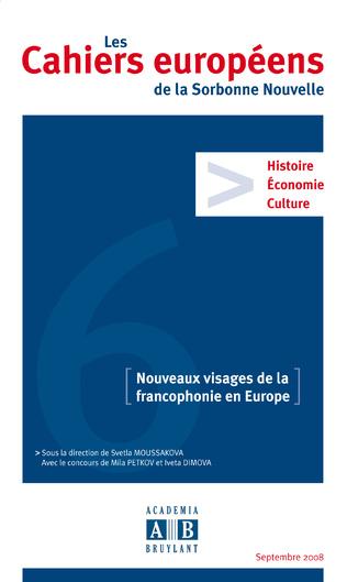 Couverture NOUVEAUX VISAGES DE LA FRANCOPHONIE EN EUROPE