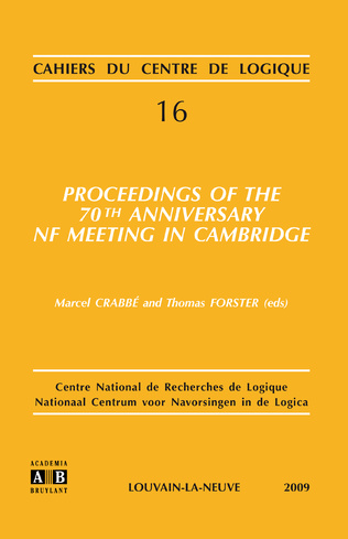 Couverture PROCEEDINGS OF THE 70TH ANNIVERSARY NF MEETING IN CAMBRIDGE