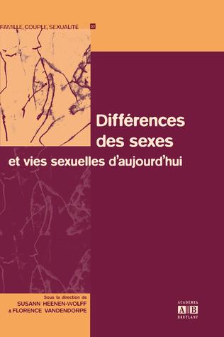 Couverture Différences des sexes et vies sexuelles d'aujourd'hui