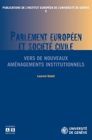 Couverture PARLEMENT EUROPEEN ET SOCIETE CIVILE