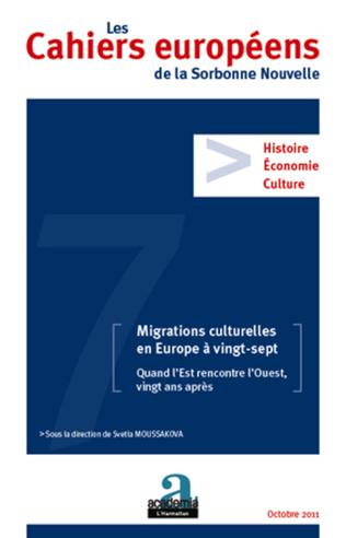 Couverture Migrations culturelles en Europe à vingt-sept