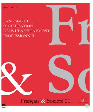 Couverture Langage et socialisation dans l'enseignement professionnel