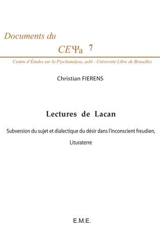 Couverture Lectures de Lacan