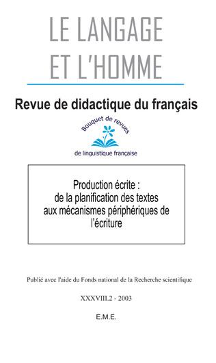 Couverture Production écrite : de la planification des textes aux mécanismes périphériques de l'écriture