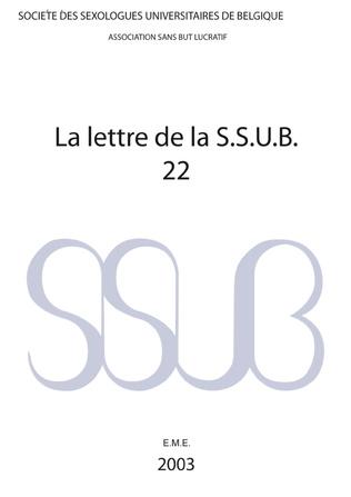 Couverture Lettre de la S.S.U.B. 22 (21)