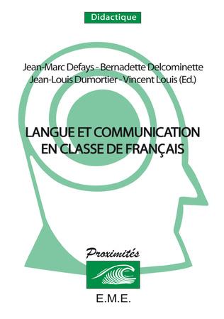 Couverture Langue et communication en classe de français