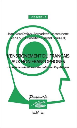 Couverture L'enseignement du français aux non francophones