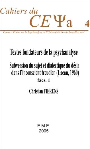 Couverture Textes fondateurs de la psychanalyse