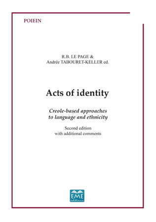 Couverture Acts ot identity