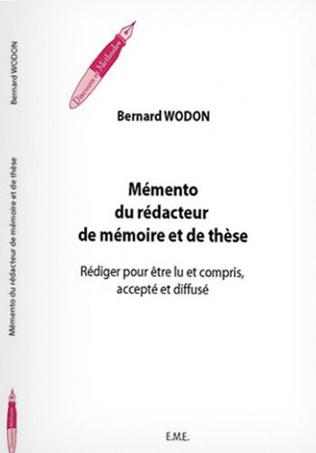 Couverture Mémento du rédacteur de mémoire et de thèse