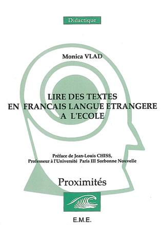 Couverture La lecture en français langue étrangere à l'école