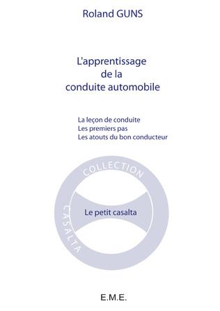 Couverture L'apprentissage de la conduite automobile