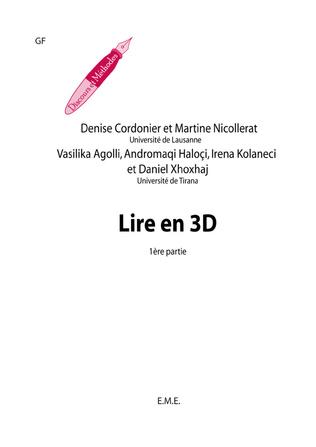 Couverture Lire en 3 D (1re partie)