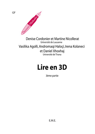 Couverture Lire en 3D (3e partie)