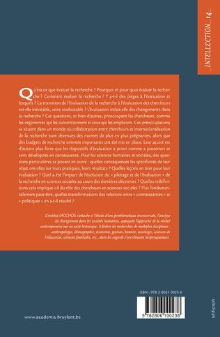 4eme L'évaluation de la recherche en sciences humaines et sociales